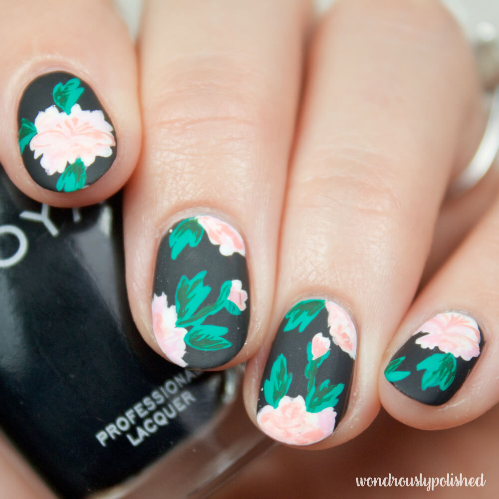 wondrously-polished-erin-condren-life-planner-nail-art-blossom-cactus 11