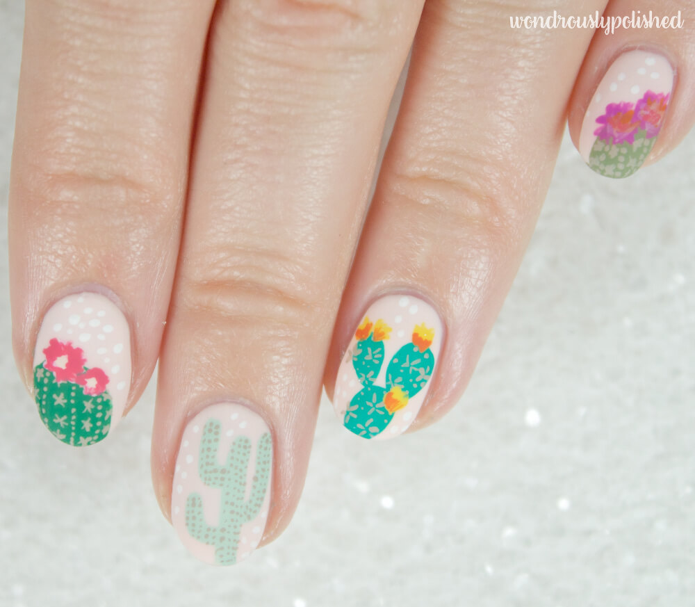 wondrously-polished-erin-condren-life-planner-nail-art-blossom-cactus 3